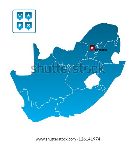 South Africa Map - stock vector