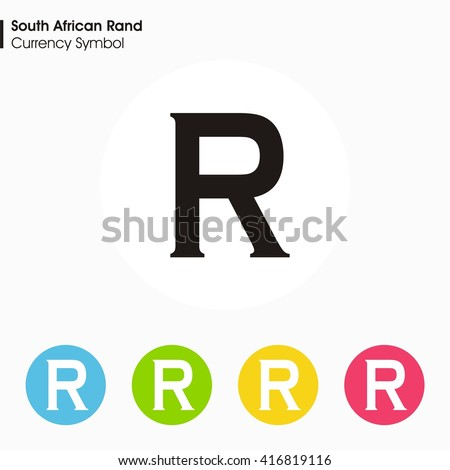 South African Rand Sign Iconmoney Symbol Stock Vector 2018