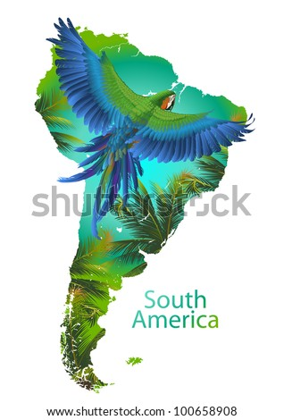 South America - stock vector