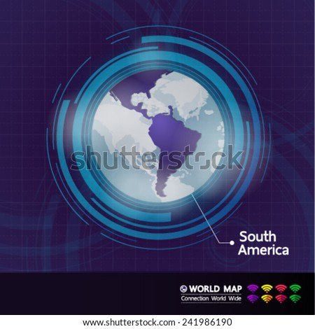 South America connection World Map vector illustration - stock vector