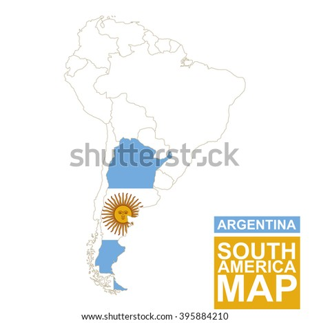 D Map Argentina Stock Illustration Shutterstock - Argentina map vector free