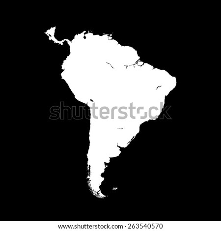 south america map - stock vector