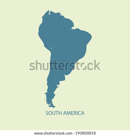 SOUTH AMERICA MAP VECTOR  - stock vector