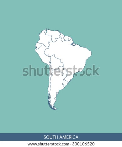 South America map vector, South America map outlines for science, brochure, tourist map, and other publication uses - stock vector