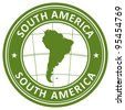 south america stamp - stock photo