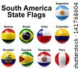 south america state flags - stock photo