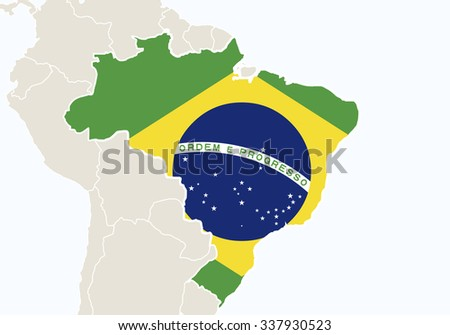 South america highlighted brazil map vector stock vector 2018 south america with highlighted brazil map vector illustration gumiabroncs Images