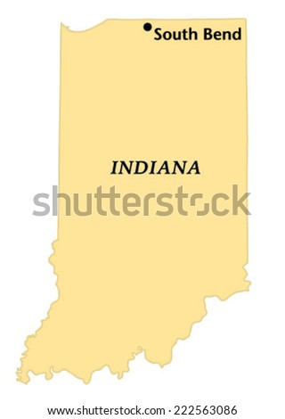 South Bend Indiana Locate Map Stock Vector Shutterstock - South bend indiana map