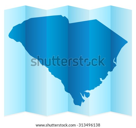 South Carolina map on a white background. Vector illustration. - stock vector