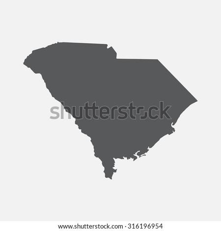 South Carolina state border map. - stock vector