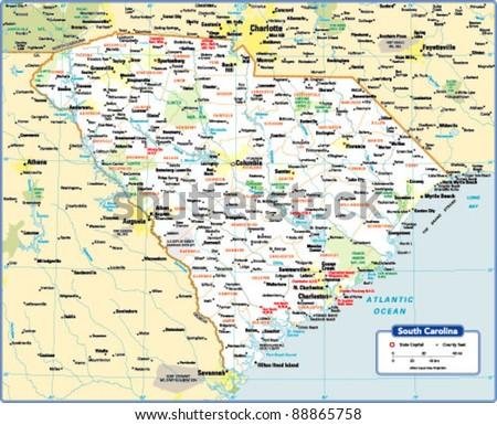 South Carolina Map Stock Images RoyaltyFree Images Vectors - Sc state map