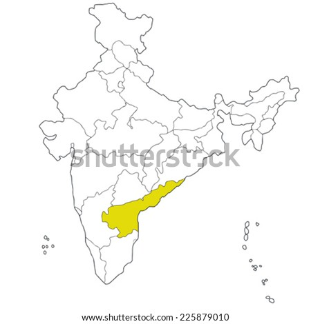 South India Map Outline Map of India South-eastern