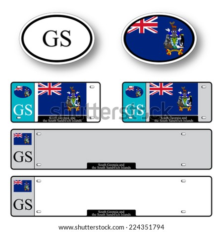south georgia and south sandwich islands auto set against white background, abstract vector art illustration, image contains transparency - stock vector