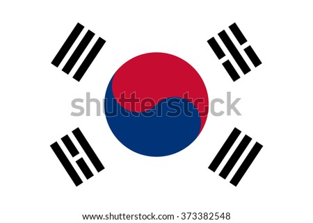 South Korea Flag , accurate vector illustration - stock vector