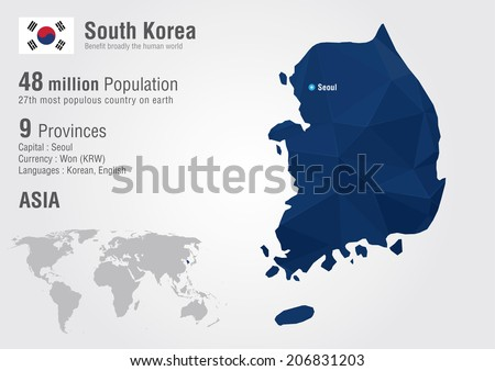 south korea world map with a pixel diamond texture world geography