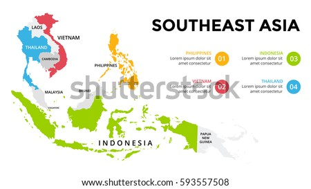 Asia Map Stock Images RoyaltyFree Images Vectors Shutterstock - Economic zones southeast asia map
