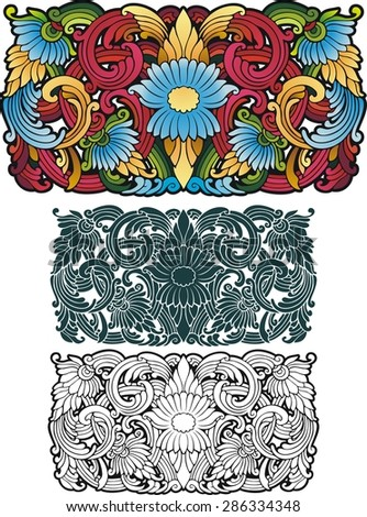 Southeast Asian style ornament. - stock vector