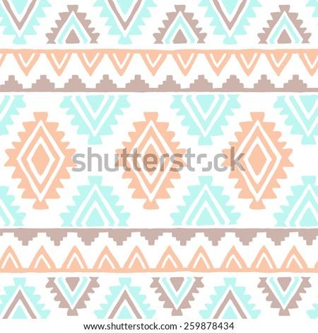 Southwest inspired vector seamless pattern - stock vector