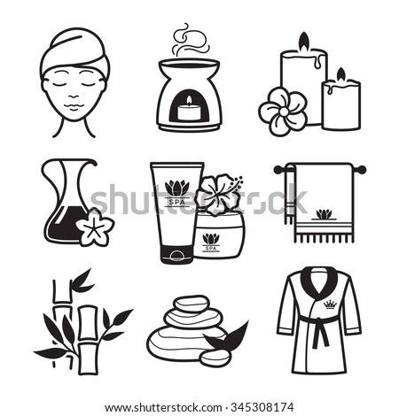 Spa and Wellness icons set - stock vector