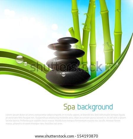 Spa background with copyspace - stock vector