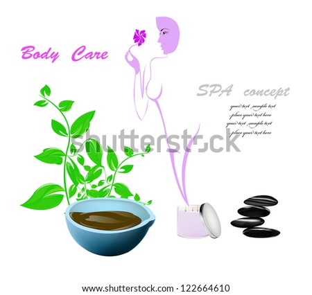 Spa concept.Body care and medicine cosmetology.Vector
