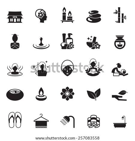 spa icon set - stock vector