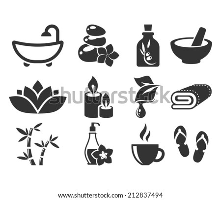Spa Icons. - stock vector