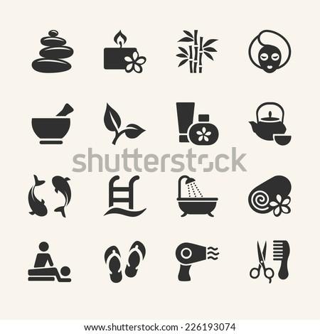 Spa icons collection, stock vector  - stock vector
