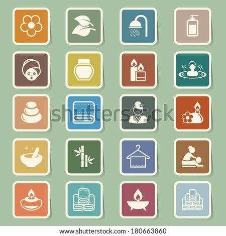 Spa icons set .Illustration eps10 - stock vector