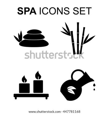 Bad Habit Icons Set Marijuana Leaf 308067986