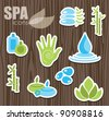 spa icons set. vector illustration - stock vector