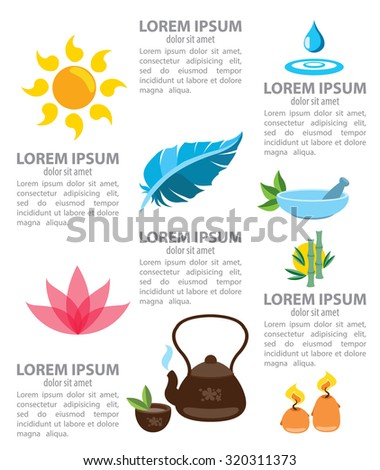 Spa infographics, healthy lifestyle