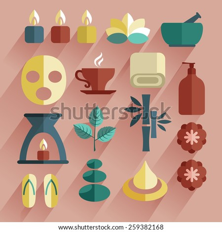 Spa Item : Flat Icon Set