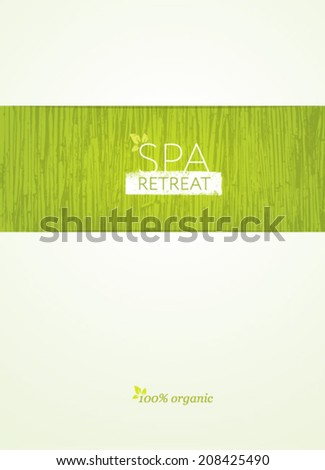 Spa Retreat Organic Eco Background. Nature Friendly Vector Concept - stock vector