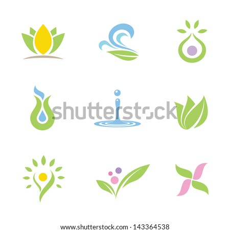 spa set of symbols and icons part II - stock vector