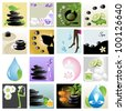 Spa & wellness graphic design elements for icons, logos & background. (Part 5) - stock vector
