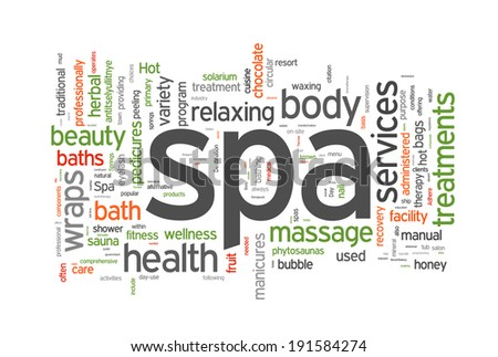 Spa word cloud vector illustration on white - stock vector