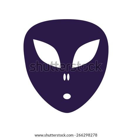 Space alien.  - stock vector