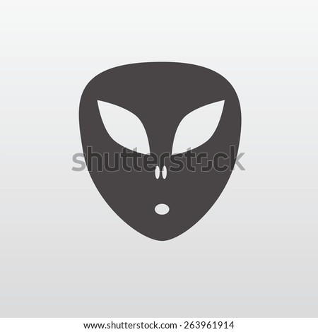 Space alien. Ufo - stock vector