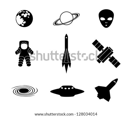 Space and astronauts - stock vector