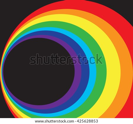 space and rainbow circle background