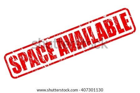 SPACE AVAILABLE red stamp text on white