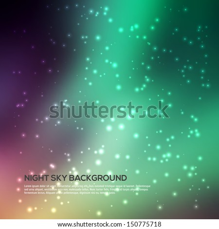 Space background. Night Sky with lots of Stars - stock vector