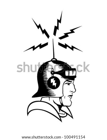 Space Cadet - Retro Clipart Illustration - stock vector