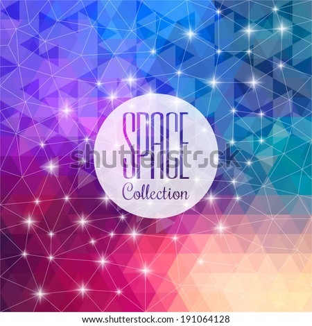 Space collection. Vibrant night sky with stars and nebula. Deep outer space background with stars and nebula. Composition of colorful fractal paint and lights on the subject of art and abstraction.  - stock vector
