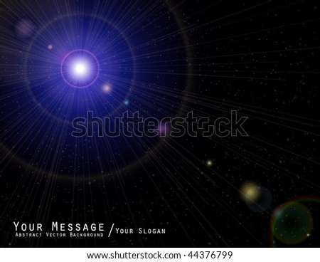 Space cover design - stock vector