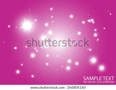Space flares pink abstract vector background template - Shiny pink space glittering vector background illustration - stock vector