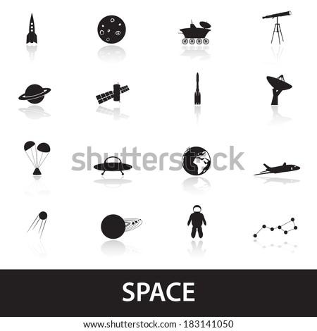 space icons eps10 - stock vector