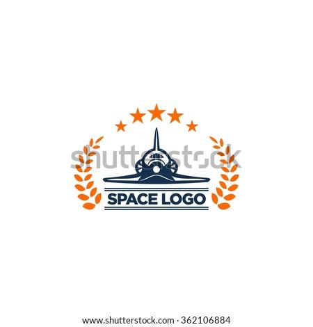 Space Logo Template - stock vector