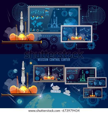 Space Infographics Set Study Universe Astronauts Stock ...